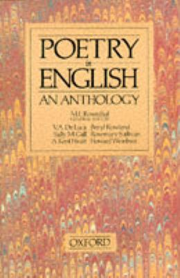 Poetry in English An Anthology