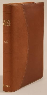 Holy Bible New American Bible, Pacific Duvelle Brown/tan Index, Reader's Edition