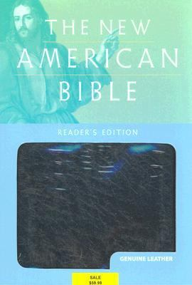 Holy Bible New American Bible, Black Genuine Leather Index, Reader's Edition