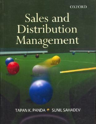 Sales and distribution management tapan k panda