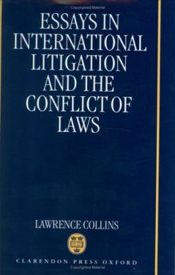 essays in international litigation and the conflict of laws 20 a partial exception exists where statutes are written in explicit reaction to foreign laws, for example british blocking clawback statutes against us judgments (see lawrence collins, 'blocking and clawback statutes: the united kingdom approach' in lawrence collins, essays in international litigation and the conflict of.