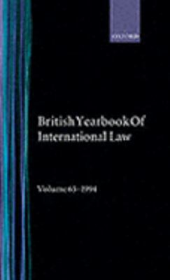 British Year Book of International Law 1994 Sixty-Fifth Year of Issue