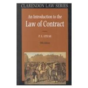 An Introduction to the Law of Contract (Clarendon Law Series)
