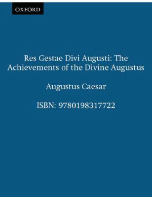 Res gestae divi augusti rent 9780198317722 0198317727 - Res gestae divi augusti pdf ...