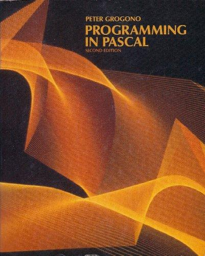 Programming in PASCAL