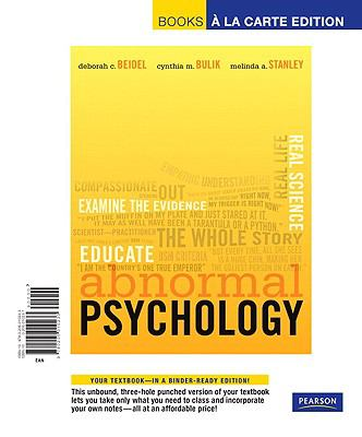 Abnormal Psychology, Books a la Carte Edition