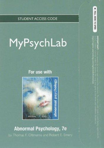 NEW MyPsychLab -- Standalone Access Card -- for Abnormal Psychology  (7th Edition) (Mypsychlab (Access Codes))