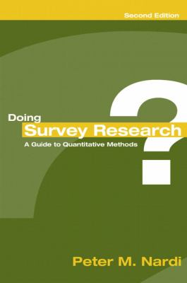 Doing Survey Research A Guide to Quantitative Methods