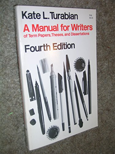 turabian a manual for writers of term papers theses and dissertations