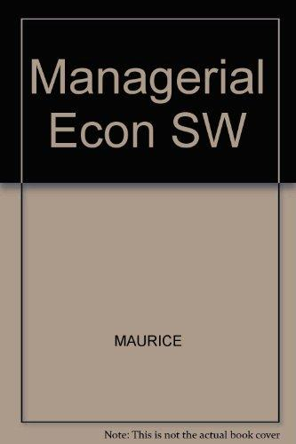 Student Workbook For Use With Third Edition Managerial Economics