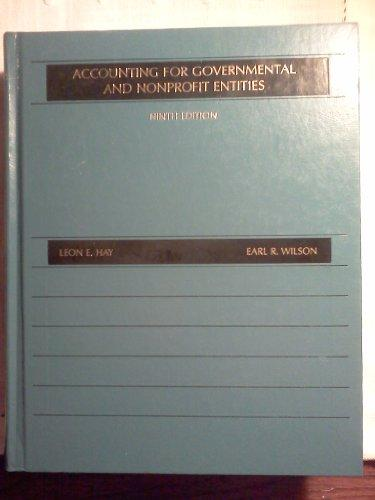 Accounting for Governmental and Non-profit Entities