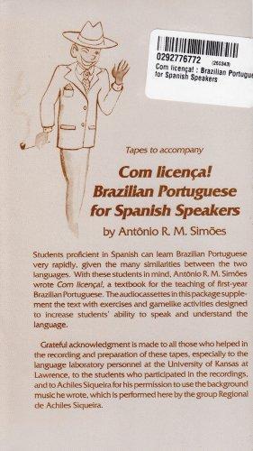 Com licena! : Brazilian Portuguese for Spanish Speakers