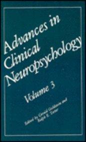 Advances in Clinical Neuropsychology: Volume 3