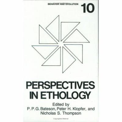 Perspectives in Ethology Behavior and Evolution