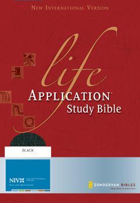 Life Application Study Bible New International Verison, Black, Top Grain Leather