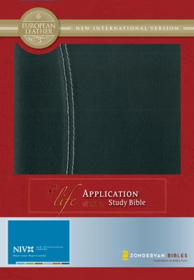 Life Application Study Bible New International Verison, Black/Black European Leather