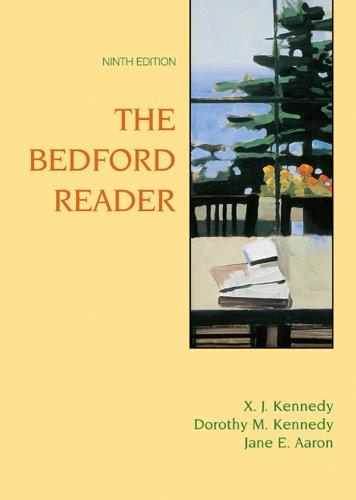 bedford reader Using a bedford/st martin's reader or rhetoric with launchpad solo for  readers and writers or writer's help 20 customize your course with.