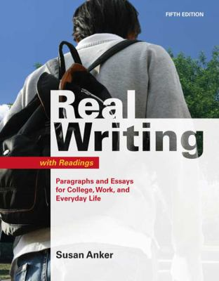 real essays susan anker Real essays with readings: writing for success in college, work, and everyday life by professor susan anker starting at $149 real essays with readings: writing for success in college, work, and everyday life has 4 available editions to buy at alibris.
