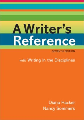 A Writer's Reference With Help for Writing in the Disciplines