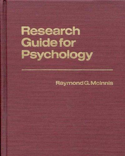 Research Guide for Psychology (Reference Sources for the Social Sciences and Humanities)