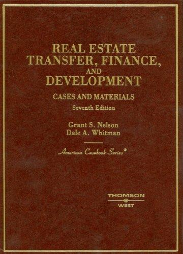 Real Estate Development Finance : Real estate transfer finance and development cases