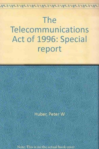 an introduction to the telecommunications act of 1996 I introduction prior to 1996 the telecommunications industry hailed congressional enactment of the telecommunication act of 1996 ('96 act) 1 the communications act of 1934, 2 which the '96 act amended n the telecommunications act of 1996.