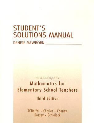 Mathematics F/elem.sch..-stud.soln.man.