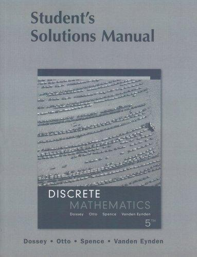 Discrete Mathematics: Student's Solution Manual
