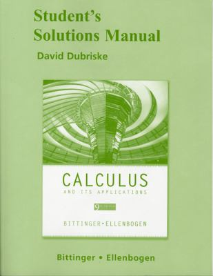 Calculus and Its Applications - Student Solutions Manual