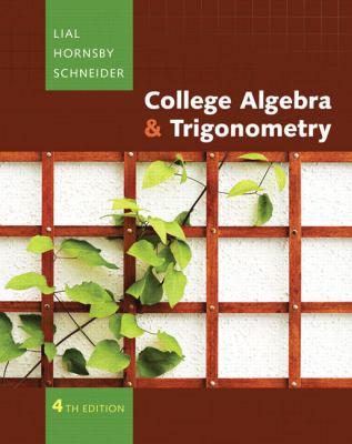 College Algebra and Trigonometry (4th Edition) (Mathxl Tutorials on CD) (Hardcover)