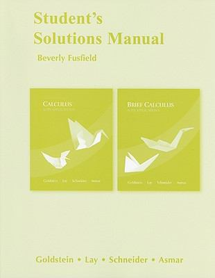 Student's Solutions Manual for Calculus and Its Applications
