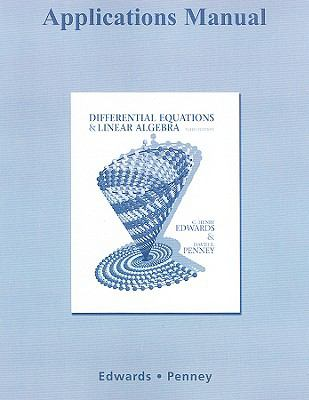 Applications Manual for Differential Equations and Linear Algebra