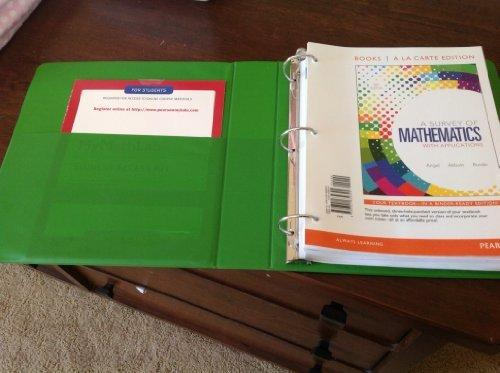Survey of Mathematics with Applications, A,  Books a la Carte Edition (9th Edition)
