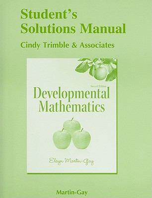 Student's Solutions Manual (standalone) for Developmental Mathematics