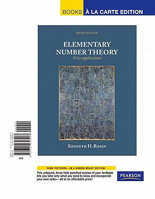 Elementary Number Theory, A La Carte text (6th Edition)