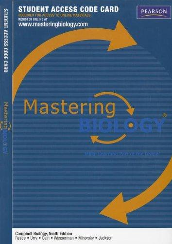 MasteringBiology -- Standalone Access Card -- for Campbell Biology (Mastering Biology (Access Codes))