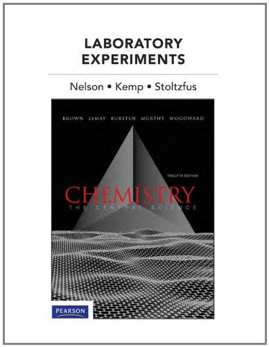 Laboratory Experiments for Chemistry: The Central Science (12th Edition)