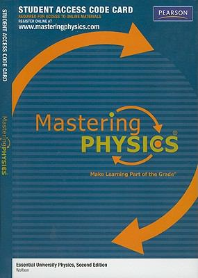 MasteringPhysics Student Access Code Card for Essential University Physics