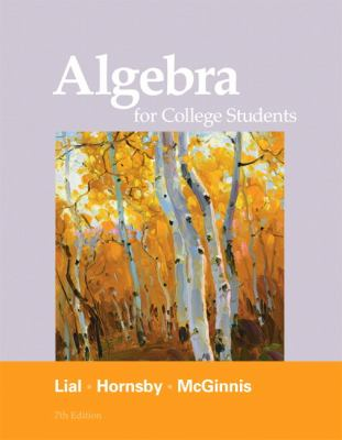 Algebra for College Students (7th Edition)