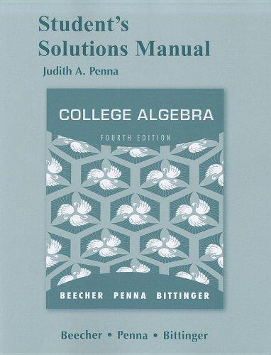 College algebra 4th edition beecher penna bittinger