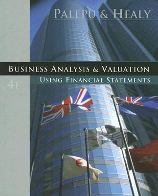 Business Analysis and Valuation With Printed Access Card Thomson Analytics for Accounting and Spreadsheet Valuation Software