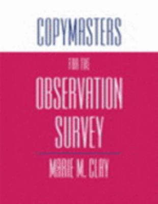 Copymasters for the Observation Survey
