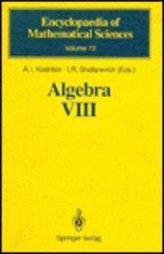 Algebra VIII: Representations of Finite-Dimensional Algebras (Encyclopaedia of Mathematical Sciences)