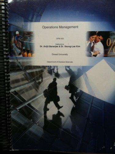 Operations Management (OPM-300 Drexel University)