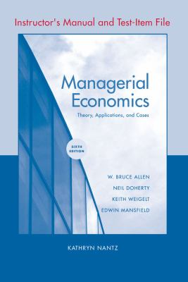 Managerial Economics: Instructor's Manual