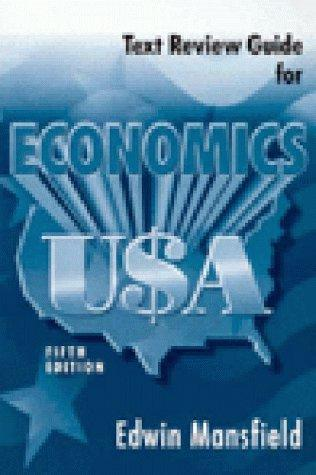 Text Review Guide for Economics USA: Text Review Guide