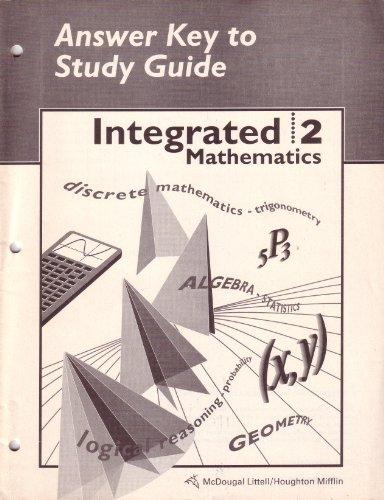 mcdougal littell integrated math study guide answer key