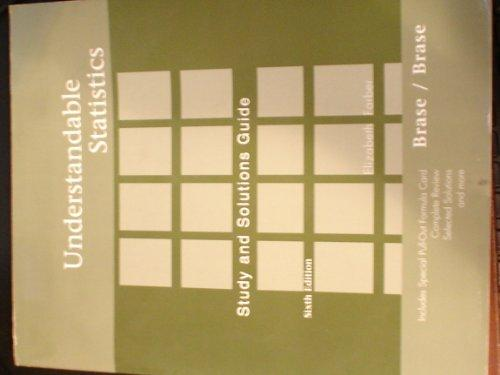 Student Solutions Manual for Brase/Brase's Understandable Statistics, 6th