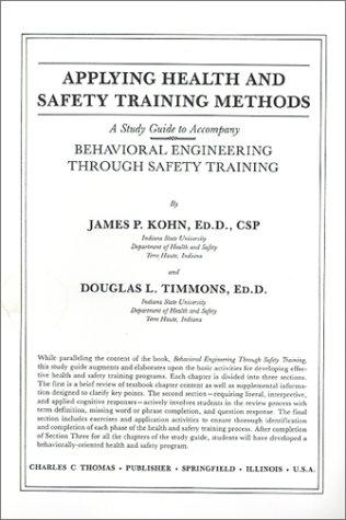 Applying Health and Safety Training Methods: A Study Guide to Accompany