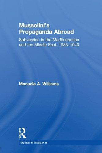 Mussolini's Propaganda Abroad: Subversion in the Mediterranean and the Middle East, 1935-1940 (Studies in Intelligence)